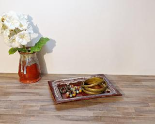 A lovely rectangular dish for your dresser or table.