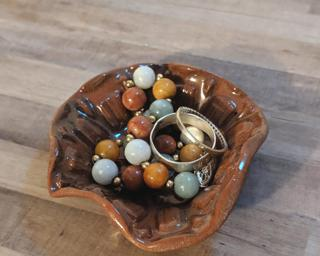 A sweet little ring dish for your dresser.