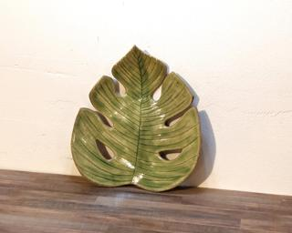 A sweet little monstera leaf dish for your dresser.