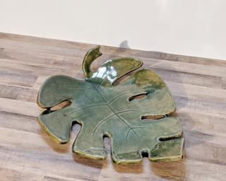 A sweet little leaf dish for your dresser.