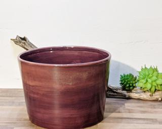 A lovely purple planter for your shelf.