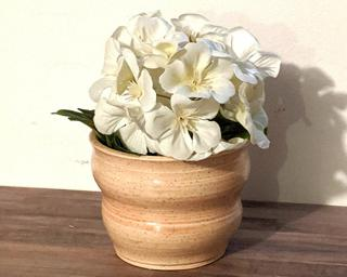 Adorn your home with this one of a kind specked planter.